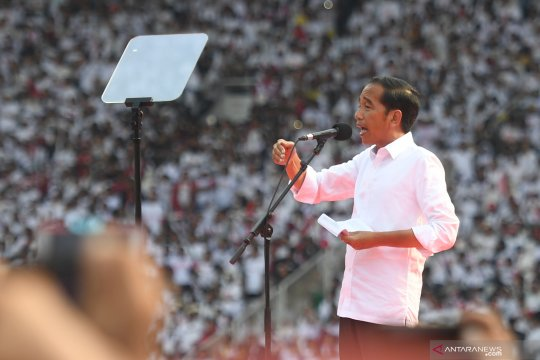 Pidato Jokowi di Konser Putih Bersatu
