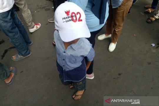 Anak-anak dilibatkan dalam kampanye terbuka Prabowo-Sandi di Tangerang