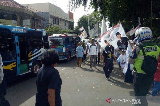 Lalin sekitar Alun-Alun Tangerang padat imbas Kampanye Prabowo-Sandi