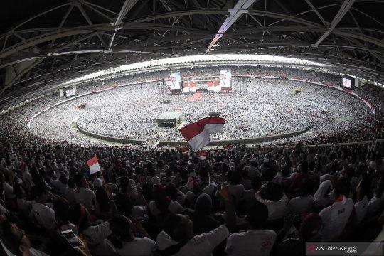 Klaim 1,2 juta orang di GBK dan sekitar, Hasto apresiasi rakyat