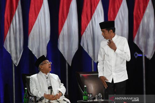 Jokowi dan Prabowo sampaikan visi misi di debat capres kelima