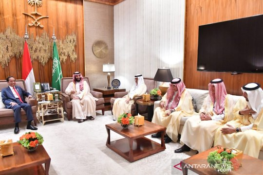 Putra Mahkota Saudi sebut Jokowi pemimpin yang maju