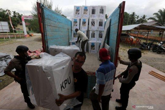 Distribusi logistik pemilu di Palembang sesuai target