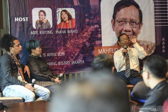 Bincang milenial bersama Mahfud MD