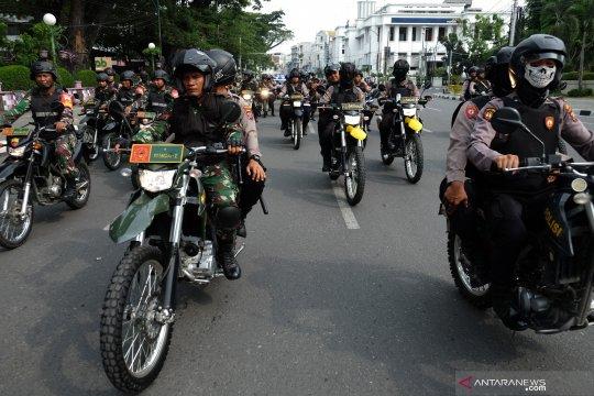 Patroli TNI-Polri jelang pencoblosan Pemilu 2019
