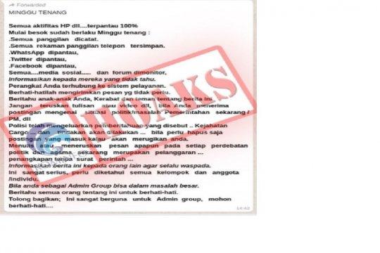 Tim siber Polda Sumsel antisipasi penyebaran informasi provokatif