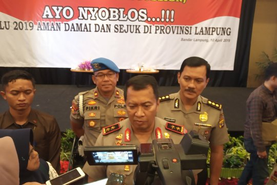 Kapolda : Lampung Kondusif Jelang Pencoblosan