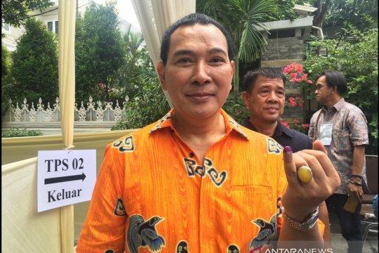Tommy Soeharto gunakan hak suara, harap masyarakat terima hasil