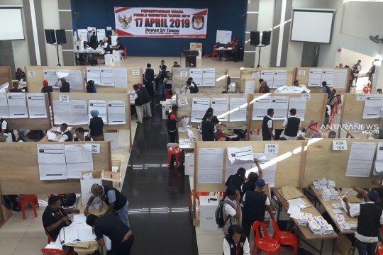 Di PPLN Tawau-Malaysia, penghitungan perolehan suara tuntas
