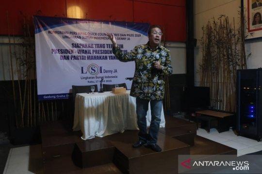 Jokowi-Ma'ruf unggul 11,54 persen versi LSI Denny JA
