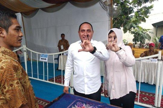 Gubernur Sumut mengaku kesulitan mencoblos karena surat surat besar