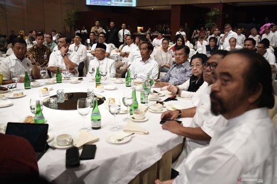 Jokowi kumpulkan pimpinan partai pengusung di sebuah restoran