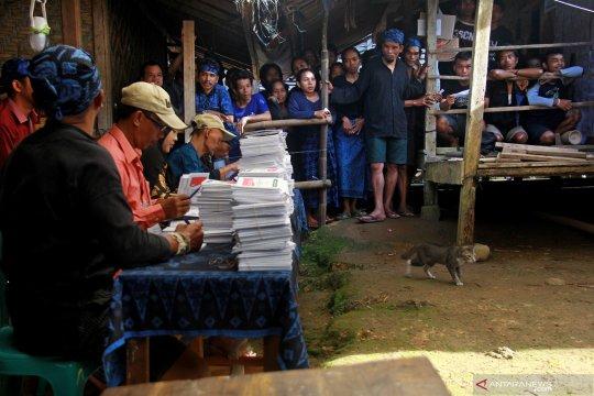 TPS 01 Badui unggul pasangan Jokowi-Ma'ruf