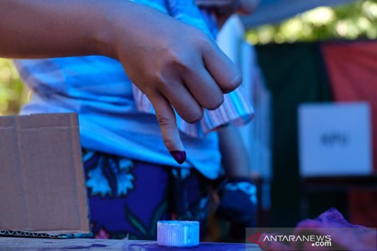 Korban gempa Lombok antusias ikuti pencoblosan pemilu