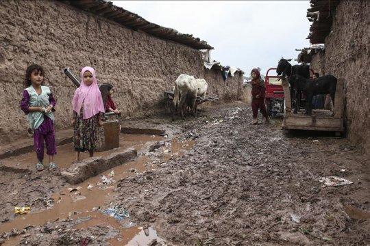 Hujan lebat, badai terjang pengungsi Afghanistan di Pakistan