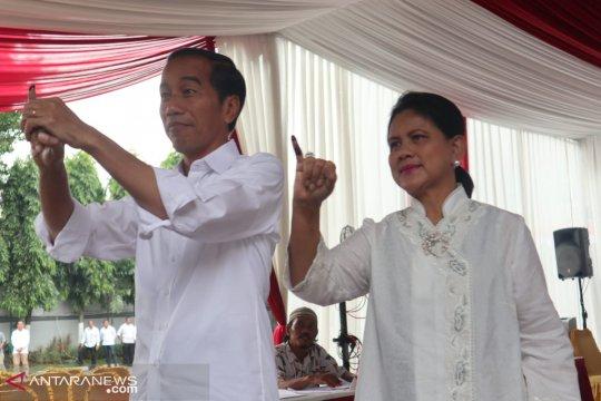 "Jokowi merasa ""plong"" usai mencoblos"