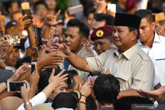 Prabowo-Sandi menang di seluruh kecamatan HST