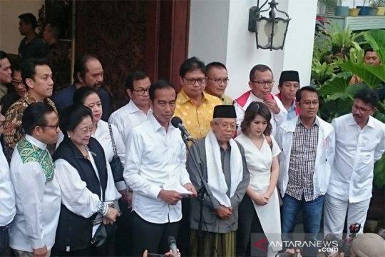 Jokowi tunggu hasil KPU, Prabowo kembali deklarasi kemenangan