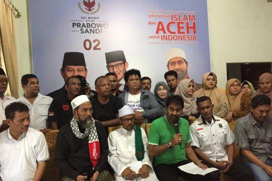 Prabowo-Sandi unggul 82 persen di Aceh