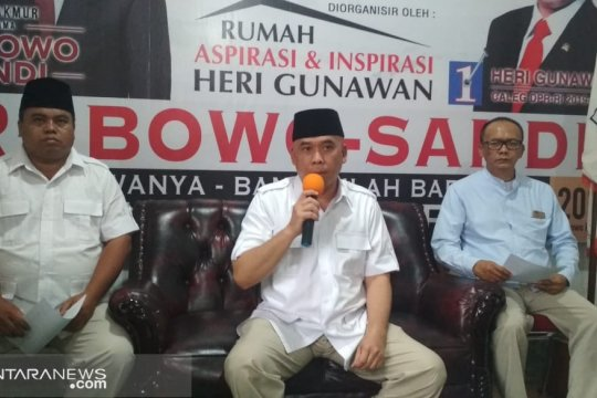 BPN imbau simpatisan pasangan 02 di Sukabumi menahan diri