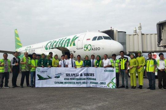 Citilink mulai penerbangan umrah dari Bandara Adi Soemarmo