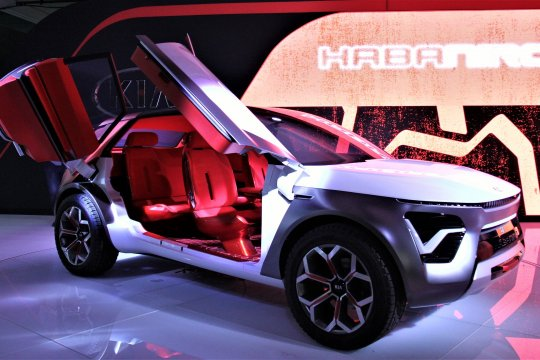 Kia Habaniro, mobil listrik berpintu sayap kupu-kupu