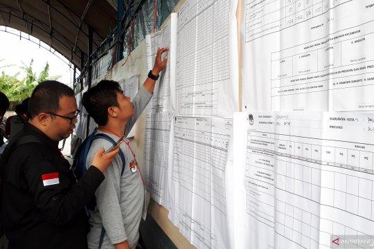 Perhitungan suara di tingkat kecamatan di Palu ditargetkan lima hari