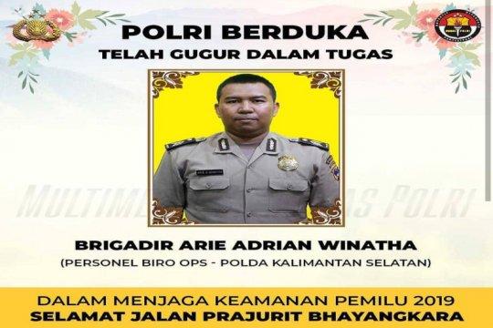 Brigadir Arie meninggal usai selesaikan tugas pengamanan pemilu