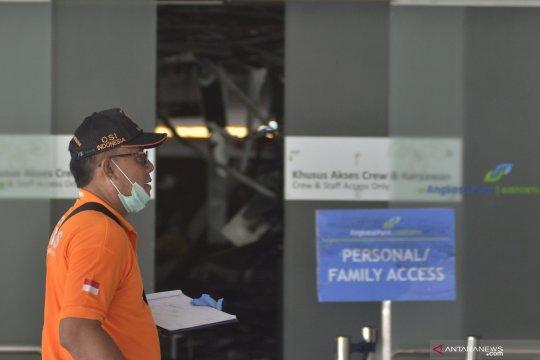 Olah TKP kebakaran di Bandaran I Gusti Ngurah Rai Bali