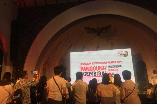 TKN Jokowi-Ma'ruf gelar syukuran ala milenial