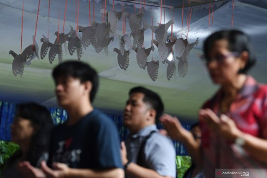 Jemaat Katedral harapkan Jokowi-Ma'ruf wujudkan masyarakat adil makmur