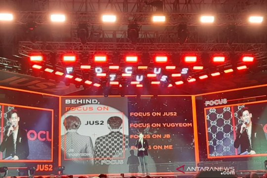 Bambam GOT7 berbahasa Indonesia dalam konser Jus2