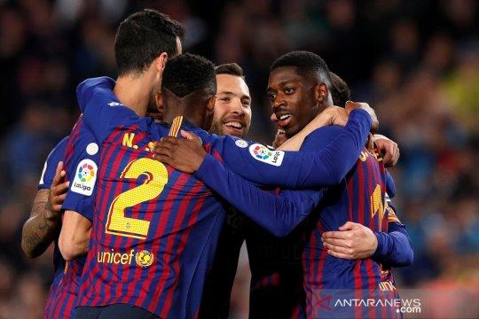 Hasil dan klasemen Liga Spanyol, Barcelona jaga keunggulan di puncak