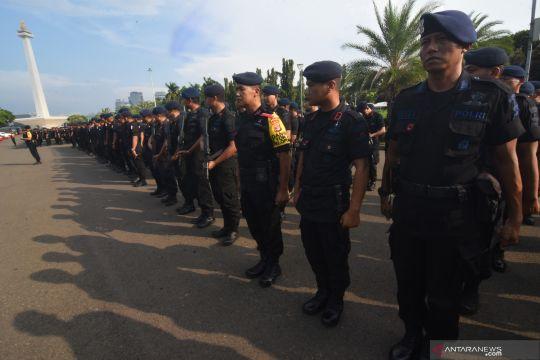 Brimob masuk Jakarta bantu pengamanan rangkaian pemilu