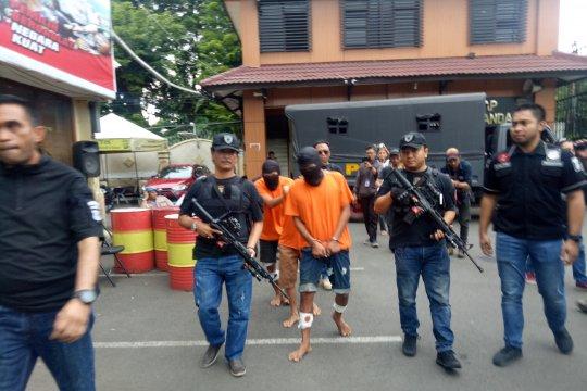 Polisi tembak mati perampok ojek daring di Palmerah