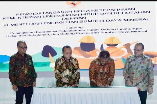 Kementerian ESDM-KLHK tandatangani pengelolaan lingkungan usai tambang
