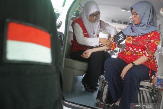 Pemantauan kesehatan petugas penghitung suara Pemilu serentak 2019