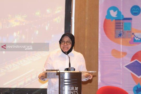 Risma ajak warga Surabaya tidak gunakan medsos untuk sebar hoaks