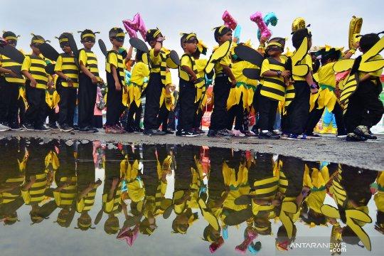 Siswa TK ikuti karnaval kreatif nilai budaya