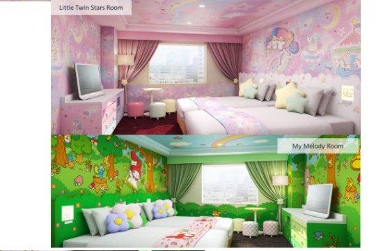 Keio Plaza luncurkan kamar My Melody, Little Twin Stars di katalog kamar bertema Hello Kitty