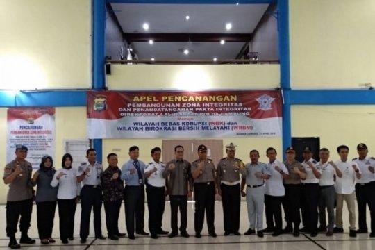 Ditlantas Polda Lampung canangkan zona integritas bersih melayani
