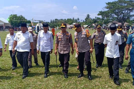 Kapolda pantau pengamanan rekapitulasi suara PPK sejumlah kabupaten