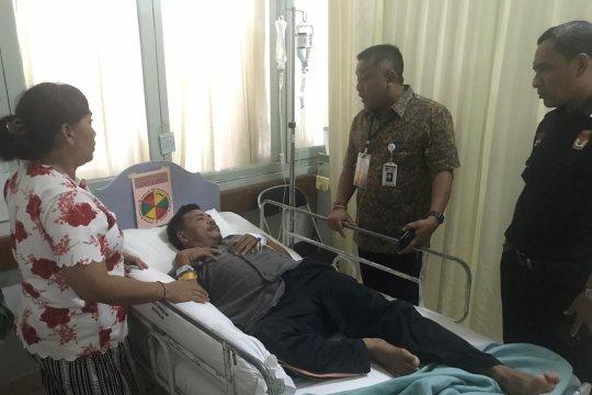KPU Bali bezuk KPPS Karangasem kena stroke
