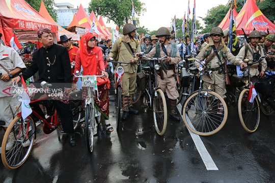 Peserta Jambore sepeda tua di Surabaya diperkirakan membludak