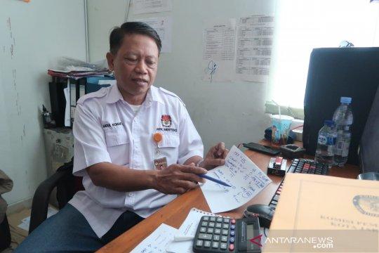 PPK Menteng menghitung suara per kelurahan
