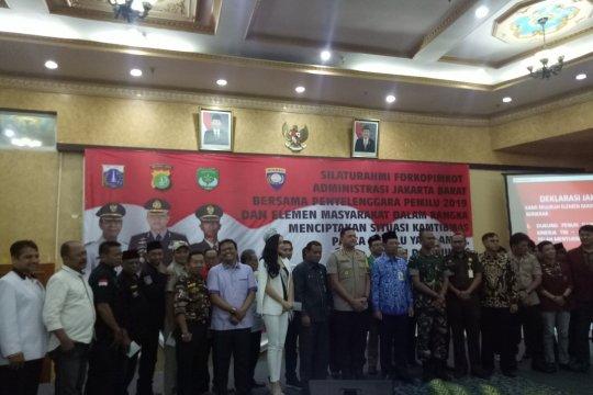 Elemen masyarakat Jakarta Barat gelar deklarasi damai pascapemilu