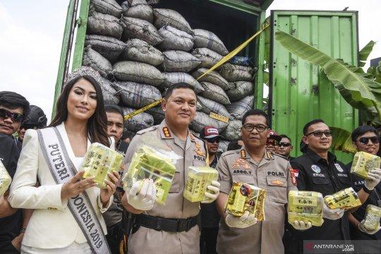 Polres Jakarta Barat gagalkan penyelundupan 120 kg sabu