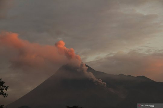Tiga guguran lava diluncurkan Gunung Merapi sejauh 1.000 meter
