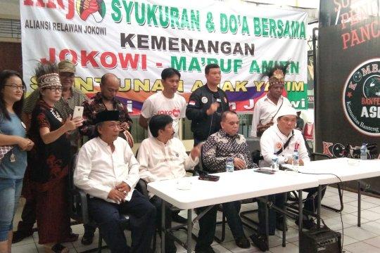 Relawan Jokowi-Ma'ruf tunggu penetapan resmi KPU