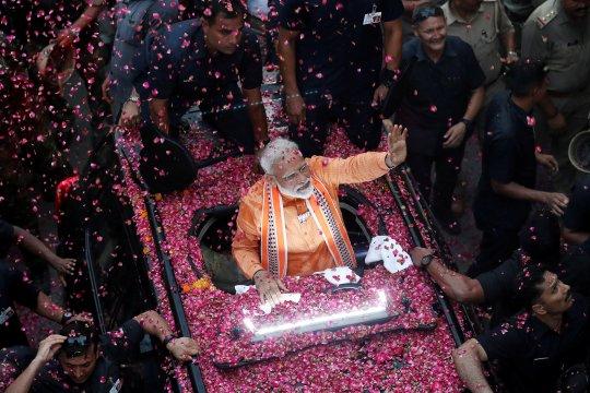 PM Modi kunjungi gereja Sri Lanka, janjikan dukungan